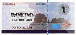 Specimen Île DOKDO Corée 1 Dollar 2013 UNC - Ficción & Especímenes