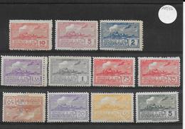 URUGUAY - 1939 - PA - YT N°89A + 90/96 + 99/100 * REIMP. DENTELURE GROSSIERE (91 + 100 DEFECTUEUX) - COTE = 155 EUR - Uruguay