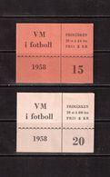 World Cup-1958,  2 Booklets, Football, Soccer, Fussball,calcio - 1958 – Schweden