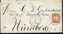 ALLEMAGNE - 1876-1900 - Enveloppe De Altenstadt Pour Nurnberg - Affr. 10 Pf. B/TB - - Bavière