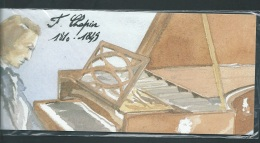 Pochette Emission Commune FRANCE - POLOGNE - Chopin  Sous Blister  Aoa169 - Emissions Communes