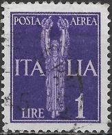 ITALY 1930 Air. Angel - 1l - Violet FU - 1900-44 Vittorio Emanuele III