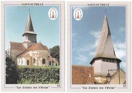 18. Gf. SAINT-OUTRILLE. Clocher Tors. 2 Cartes - France