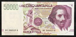 50000 Lire BERNINI II° TIPO SERIE E 1999 2 Es. Consecutivi Q.fds/fds  LOTTO.2102 - [ 2] 1946-… : Repubblica