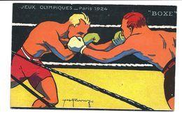 BOXE - Jeux Olympiques PARIS 1924 - Illustrateur - VENTE DIRECTE - Boxe