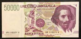 50000 LIRE BERNINI II° TIPO SERIE D 1997 Fds   LOTTO 2104 - [ 2] 1946-… : Repubblica