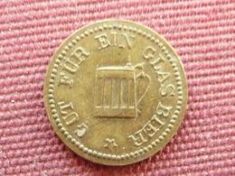 ALLEMAGNE Jeton De Bière - Monetary/Of Necessity