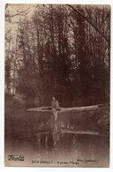 CPA   91   SAINT CHERON -  SAINT EVROULT    1925      VUE SUR L ORGE     FEMME ASSISE AU BORD DE L EAU - Saint Cheron