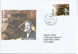 SIGABA WW2 CYPHER MACHINE US ARMY AS ENIGMA IMPROVED  ON SPAIN TUSELLO ON COVER - Télécom