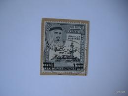 QATAR 1964.  Pres. Kennedy Commem. Optd John F Kennedy 1917–1963 1Re. On 10Rs. SG 45. Used. - Qatar