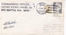 COMMANDING OFFICER USCGC STORIS -SOBRE ENVELOPE-1981 USA- BLEUP - United States