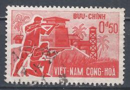 Viet Nam 1962. Scott #197 (U) Armed Guards And Village * - Viêt-Nam