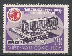 Viet Nam 1966. Scott #291 (M) WHO Building, Geneva And Emblem * - Viêt-Nam