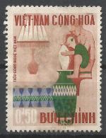 Viet Nam 1967. Scott #311 (M) Vietnamese Handicrafts, Potter, Vases And Lamp * - Viêt-Nam