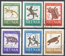 Viet Nam Democratic Republic 1966. Scott #413-8 (U) Reptiles * Complet Set - Viêt-Nam