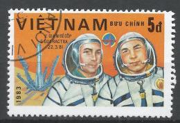 Viet Nam Democratic Republic 1983. Scott #1279 (U) Cosmonauts, Dzhanibekov, Gurragcha * - Viêt-Nam