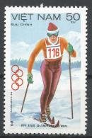 Viet Nam Democratic Republic 1984. Scott #1351 (MNH) Cross-country Skiing * - Viêt-Nam