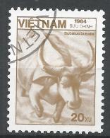 Viet Nam Democratic Republic 1984. Scott #1464 (U) Fauna, Bubalus Bubatis, Buffalo * - Viêt-Nam