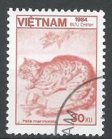 Viet Nam Democratic Republic 1984. Scott #1465 (U) Fauna, Felis Marmorata, Marbled Cat * - Viêt-Nam