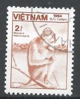 Viet Nam Democratic Republic 1984. Scott #1475 (U) Fauna, Macaca Fascicularis, Monkey * - Viêt-Nam