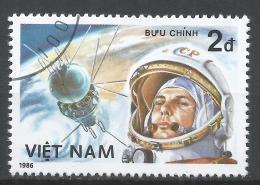 Viet Nam Democratic Republic 1986. Scott #1616 (U) Yuri Gagarin, Cosmonaut * - Viêt-Nam