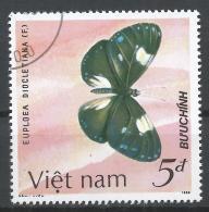 Viet Nam Democratic Republic 1987. Scott #1698 (U) Euploea Diocletiana, Butterfly * - Viêt-Nam