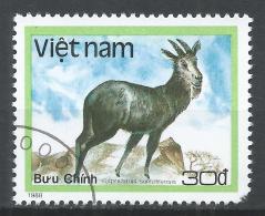 Viet Nam Democratic Republic 1988. Scott #1889 (U) Wild Animal, Capricornis Sumatrensis, Sumatran Serow * - Viêt-Nam