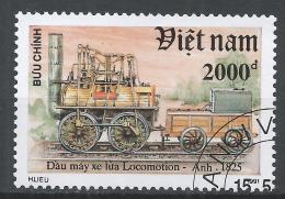 Viet Nam Democratic Republic 1991. Scott #2271 (U) Locomotive, Locomotion 1825 * - Viêt-Nam