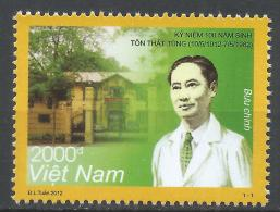 Viet Nam Democratic Republic 2012. Scott #3449 (MNH) Ton That Tung (1912-82), Physician * - Viêt-Nam