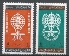 Yemen 1962. Scott #135-6 (MNH) Malaria Eradication Emblem * Complet Set - Yémen
