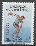 Yemen 1964. Scott #196B (M) Summer Olympic Games Tokyo, Discus Thrower * - Yémen