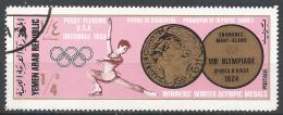 Yemen 1968. Scott #251 (U) Gold Medalist, Peggy Fleming, USA, Figure Skating * - Yémen