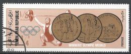Yemen 1968. Scott #253 (U) Gold Medal From 1896, 1908, 1912, Weight Lifthing * - Yémen