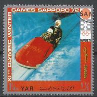 Yemen 1971. Scott #298d (U) Olympic Sport, Bobsled * - Yémen