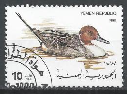Yemen 1990. Scott #533 (U) Pintail Swimming, Duck * - Yémen