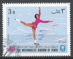Kingdom Of Yemen 1968. Michel #456 (U) Winter Olympic Grenoble, Figure Skating * - Yémen