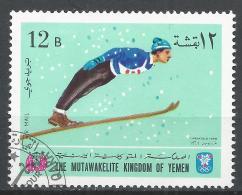 Kingdom Of Yemen 1968. Michel #460 (U) Winter Olympic Grenoble, Ski Jump * - Yémen