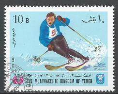 Kingdom Of Yemen 1968. Michel #459 (U) Winter Olympic Grenoble, Downhill Skiing * - Yémen