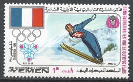 Kingdom Of Yemen 1968. Michel #529 (MNH) Winter Olympic Grenoble, Ski Jump * - Yémen
