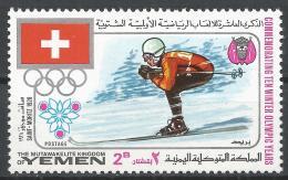 Kingdom Of Yemen 1968. Michel #530 (MNH) Winter Olympic Grenoble, Downhill Skiing * - Yémen