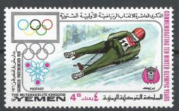Kingdom Of Yemen 1968. Michel #532 (MNH) Winter Olympic Grenoble, Luge * - Yémen