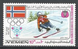 Kingdom Of Yemen 1968. Michel #534 (MNH) Winter Olympic Grenoble, Downhill Skiing * - Yémen