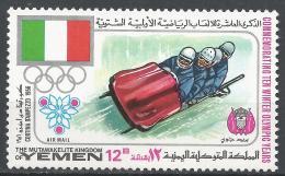 Kingdom Of Yemen 1968. Michel #535 (MNH) Winter Olympic Grenoble, Bobsled * - Yémen