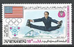 Kingdom Of Yemen 1968. Michel #536 (MNH) Winter Olympic Grenoble, Figure Skating * - Yémen