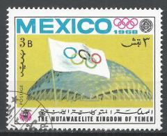 Kingdom Of Yemen 1968. #A (U) Olympic Games Mexico City, Stadium * - Yémen