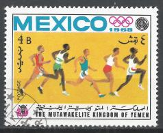 Kingdom Of Yemen 1968. #B (U) Olympic Games Mexico City, Runners * - Yémen
