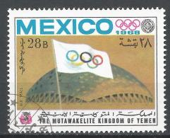 Kingdom Of Yemen 1968. #C (U) Olympic Games Mexico City, Stadium * - Yémen
