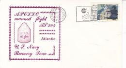 APOLLO MANNED FLIGHT AP 204 ATLANTIC US NAVY RECOVERY FORCE-SOBRE ENVELOPE 1967 USA- BLEUP - Storia Postale