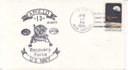 APOLLO 13 US NAVY RECOVERY FORCE-SOBRE ENVELOPE 1970 USA- BLEUP - America Del Nord