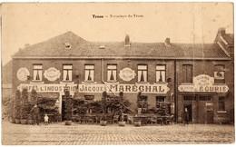 TROOZ - Terminus Du Tram ( Tramway ? ) - Café De L'Industrie Jacques MARECHAL - Garage Pour Autos Ecurie Location Autos - België